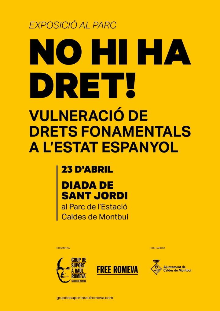 EXPO NO HI HA DRET_CARTELL